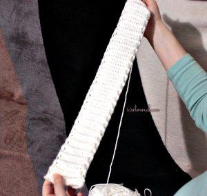 Cum se croseteaza o bereta cu tehnica solzi de crocodil