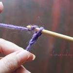 Cum se croseteaza ochiuri de lant si un lant de baza, arta manuala